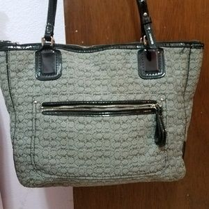 "Coach ""Poppy"" small tote Mini C"